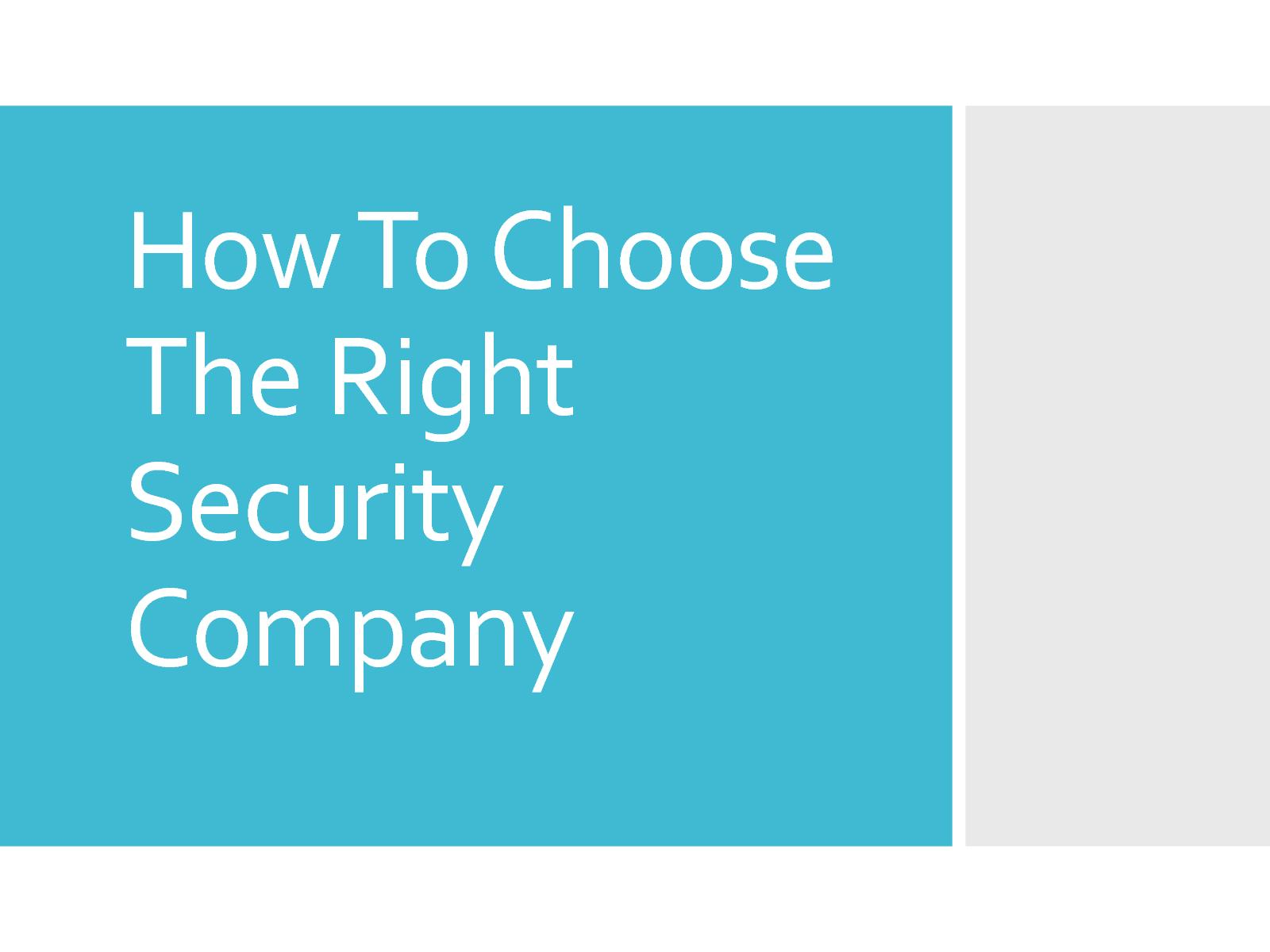 How to choose a security company 31