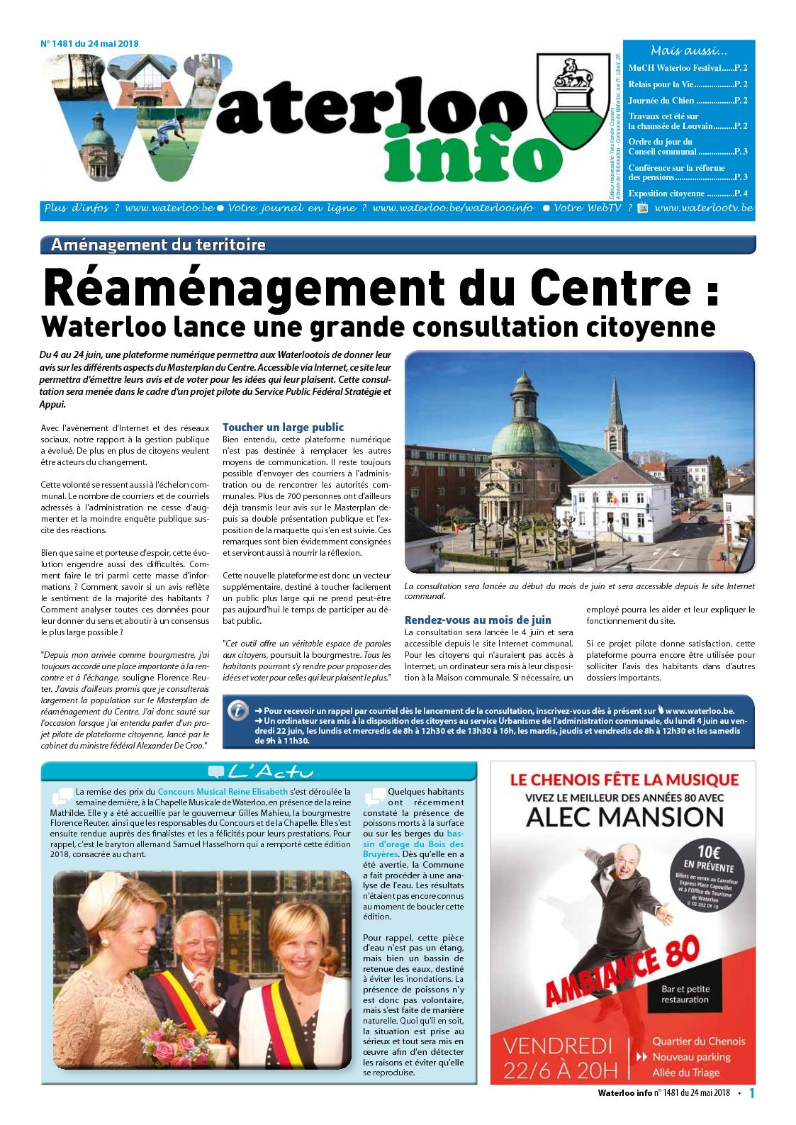 Waterloo Info n°1481 du 24 mai 2018