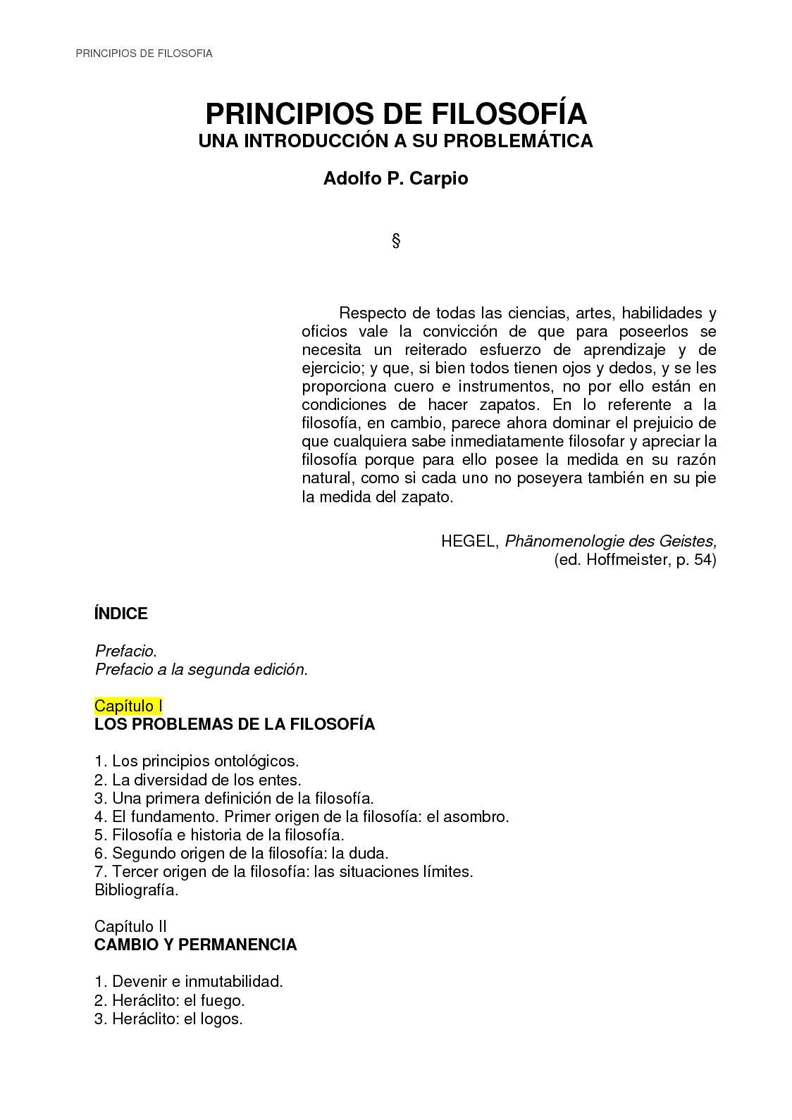 Calaméo - Adolfo Carpio Principios De Filosofia