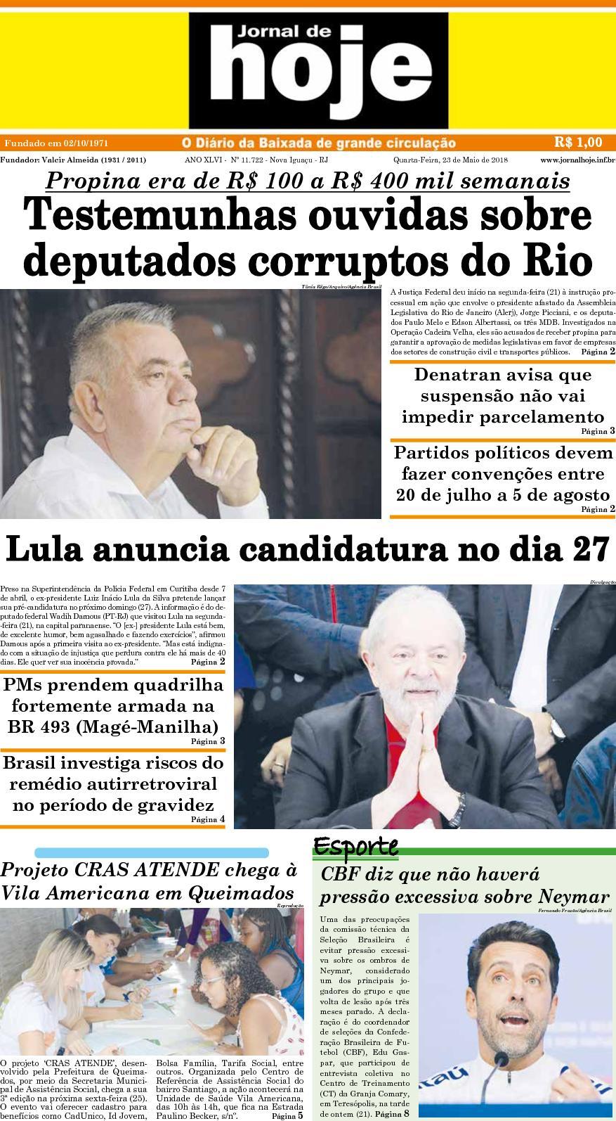 Jornal De Hoje 230518