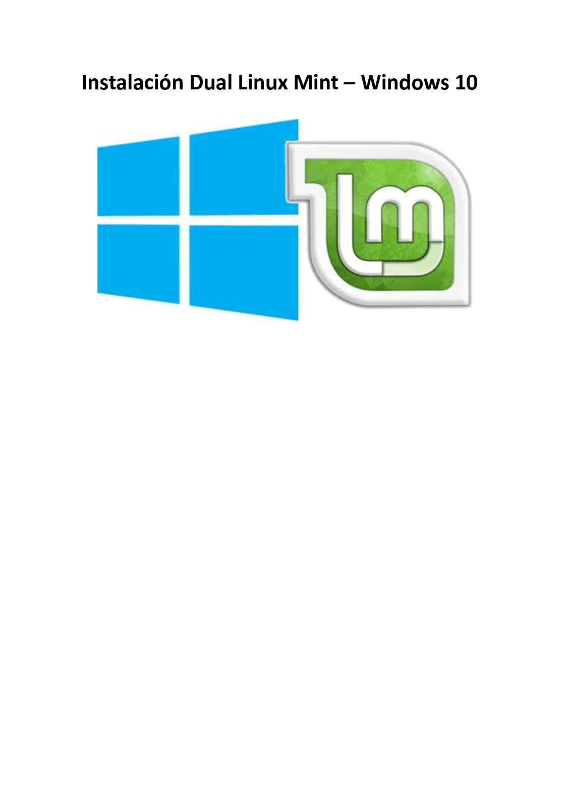 Instalación dual Linux Mint-Windows 10