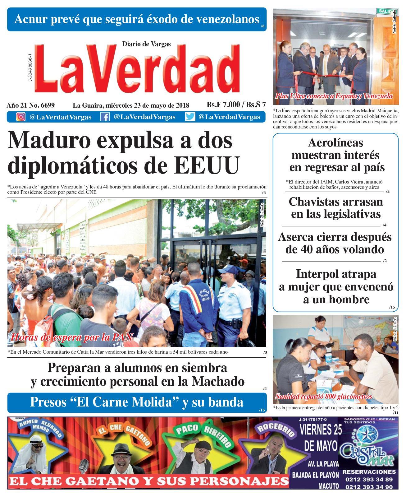 Calaméo - La Guaira, miércoles 23 de mayo de 2018. Año 20 No 6699