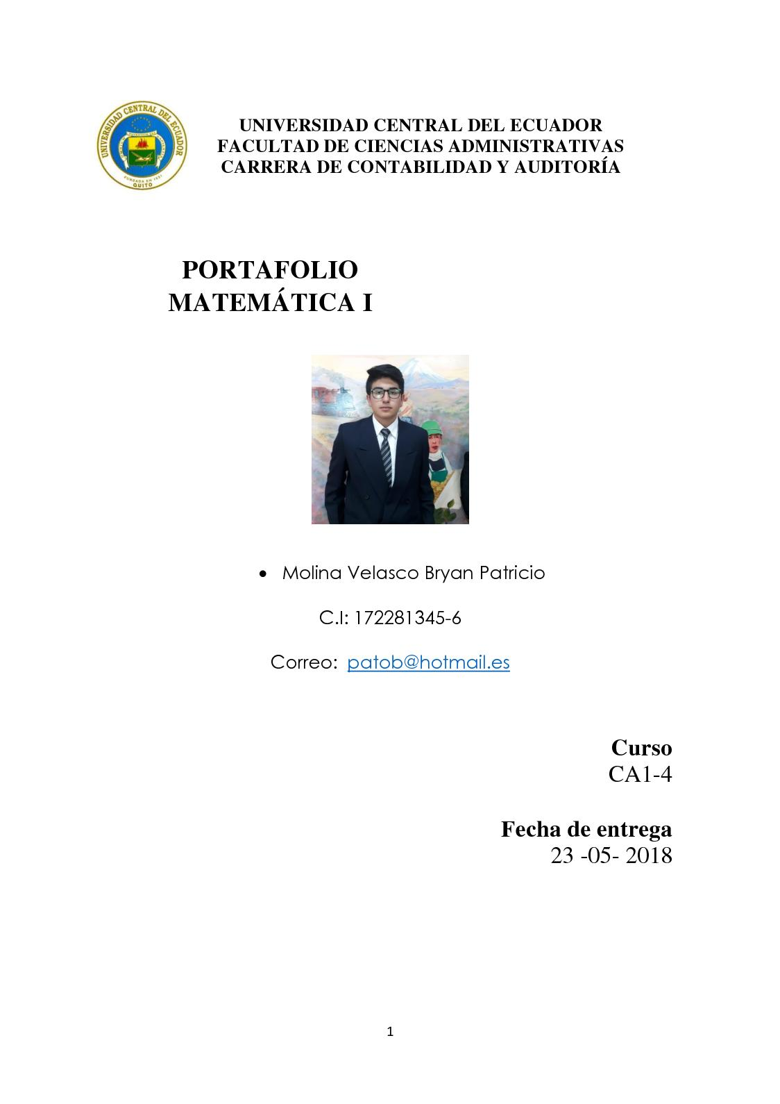 Portafolio Matemáticas 1 CA1-4