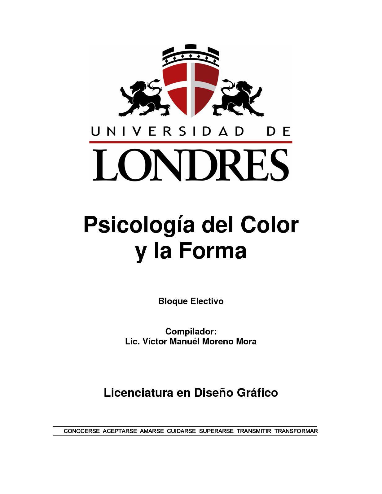 Calaméo - Universidad De Londres Psicologia Del Color Y Forma