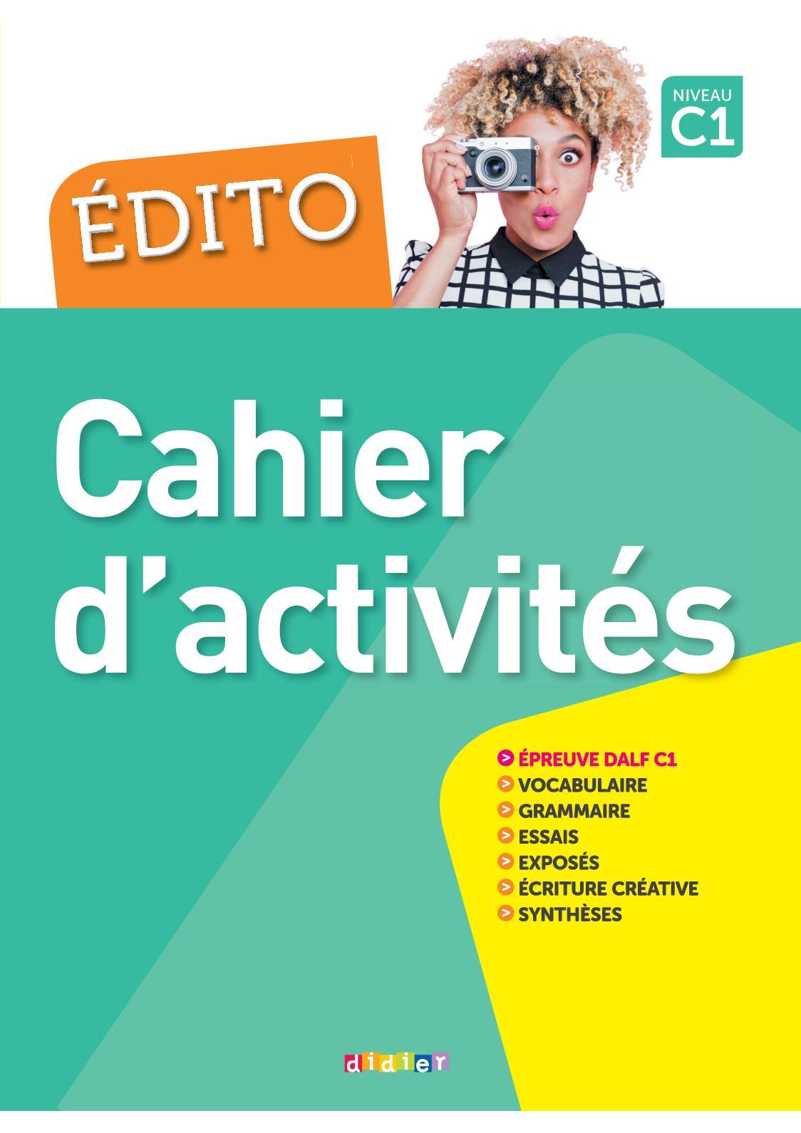 Edito C1 - Extrait cahier d'activités
