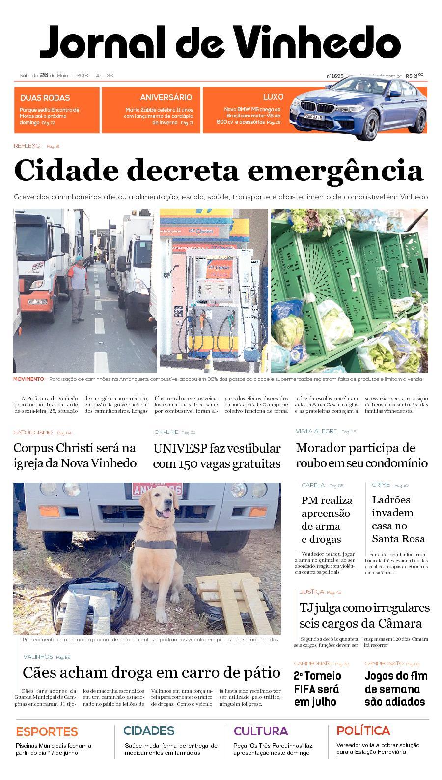 57f8dfc567d Calaméo - Jornal De Vinhedo Sabado 26 De Maio De 2018 Edic 1695
