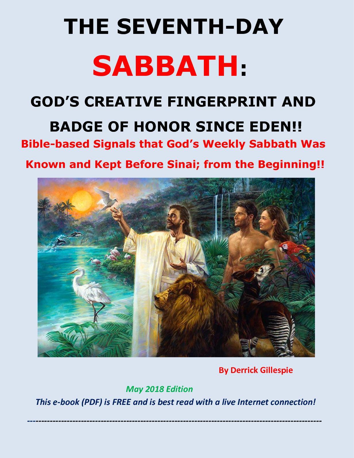 The Sabbath Known Since Eden (2018)
