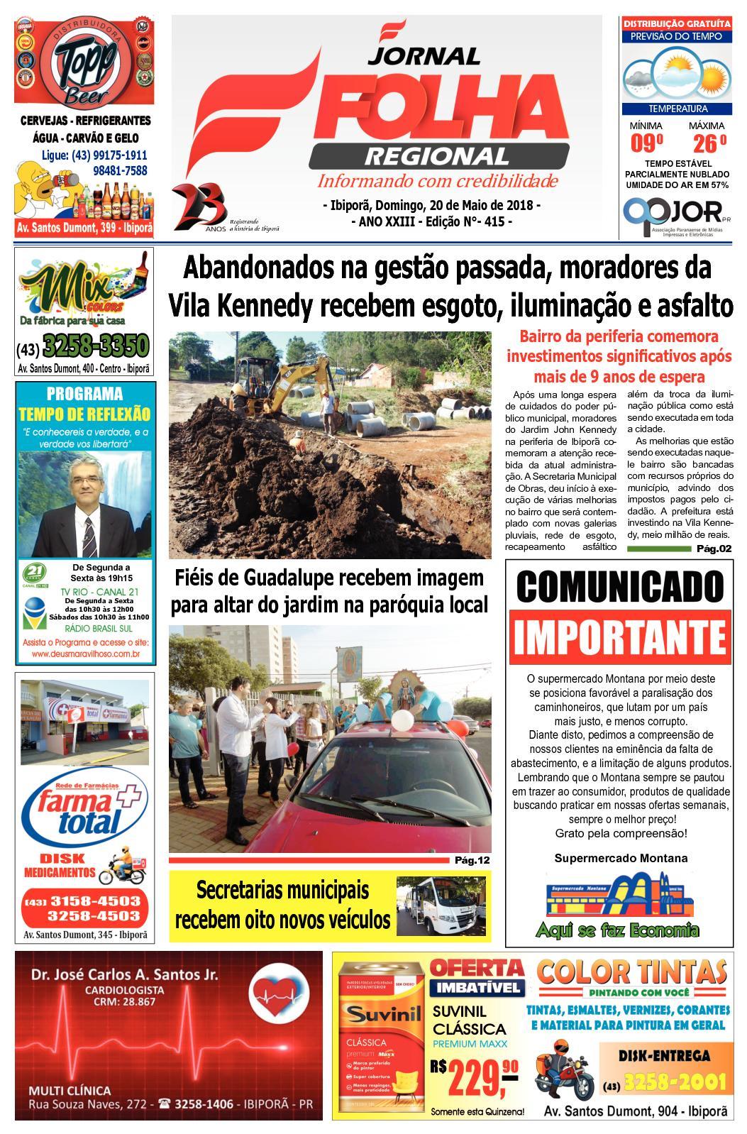 254ffbf466 Calaméo - Folha Regional 20 de Maio de 2018