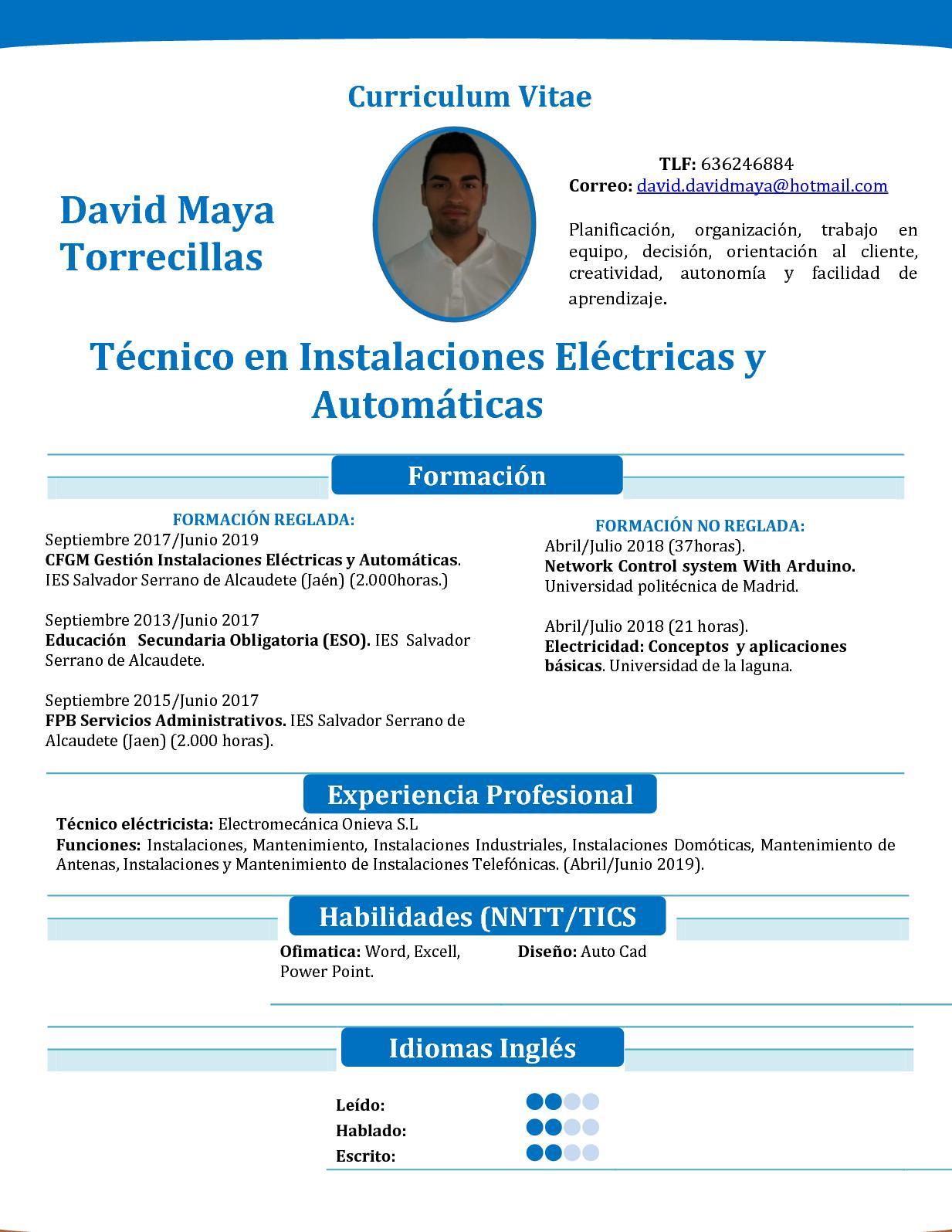 Calaméo - Nuevo Currículum Vitae David Maya
