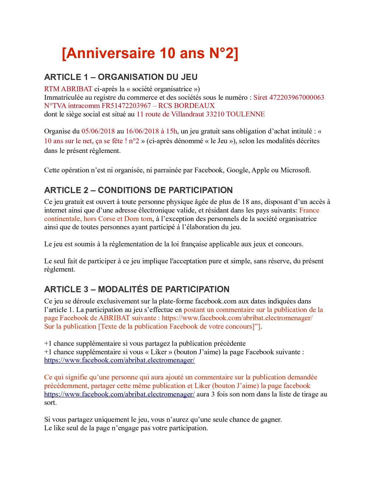 Calameo Reglement Concours 2