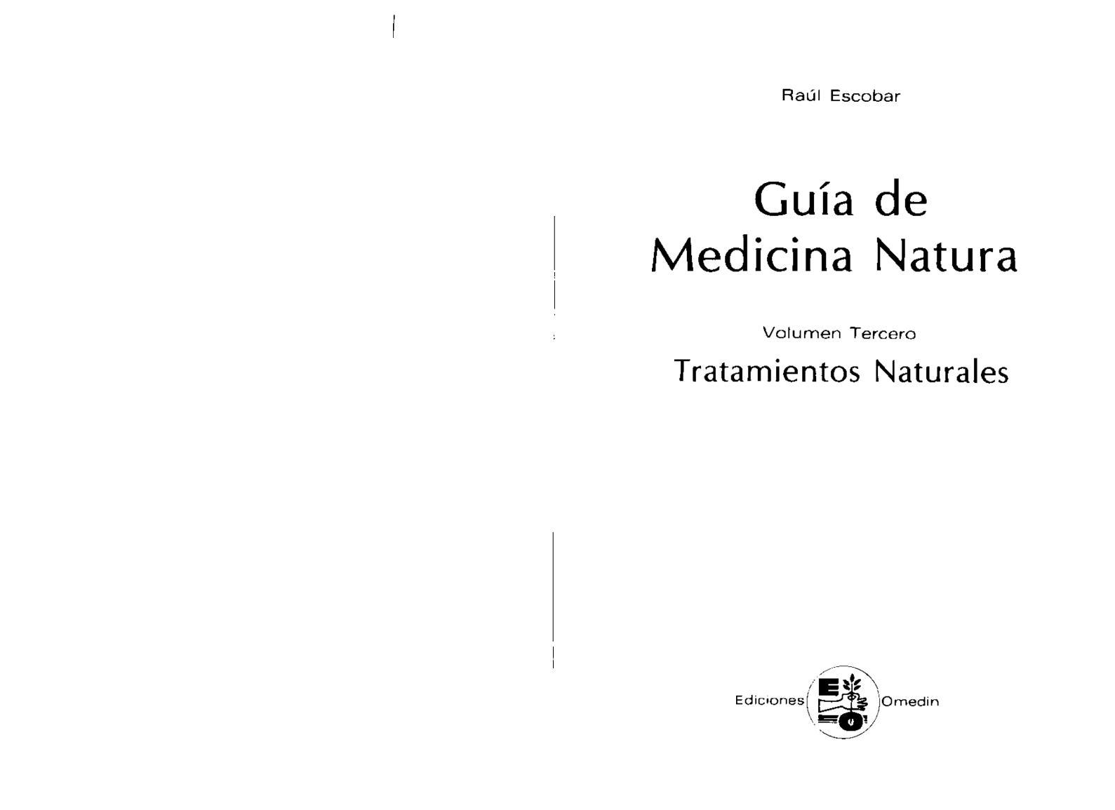 Calaméo - Guia De Medicina Natural Vol Iii Raul Escobar