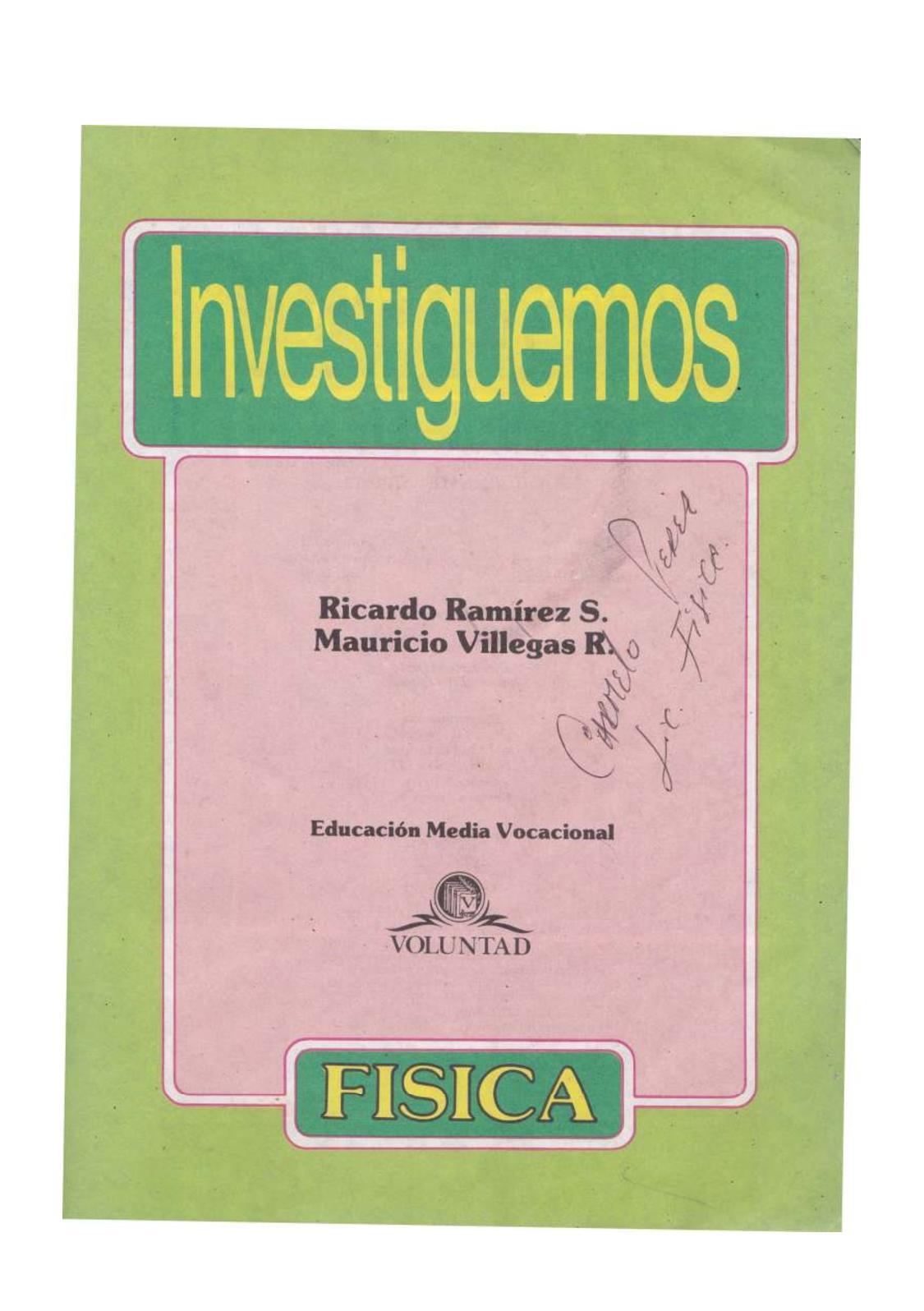 Libro Fisica Investiguemos 11