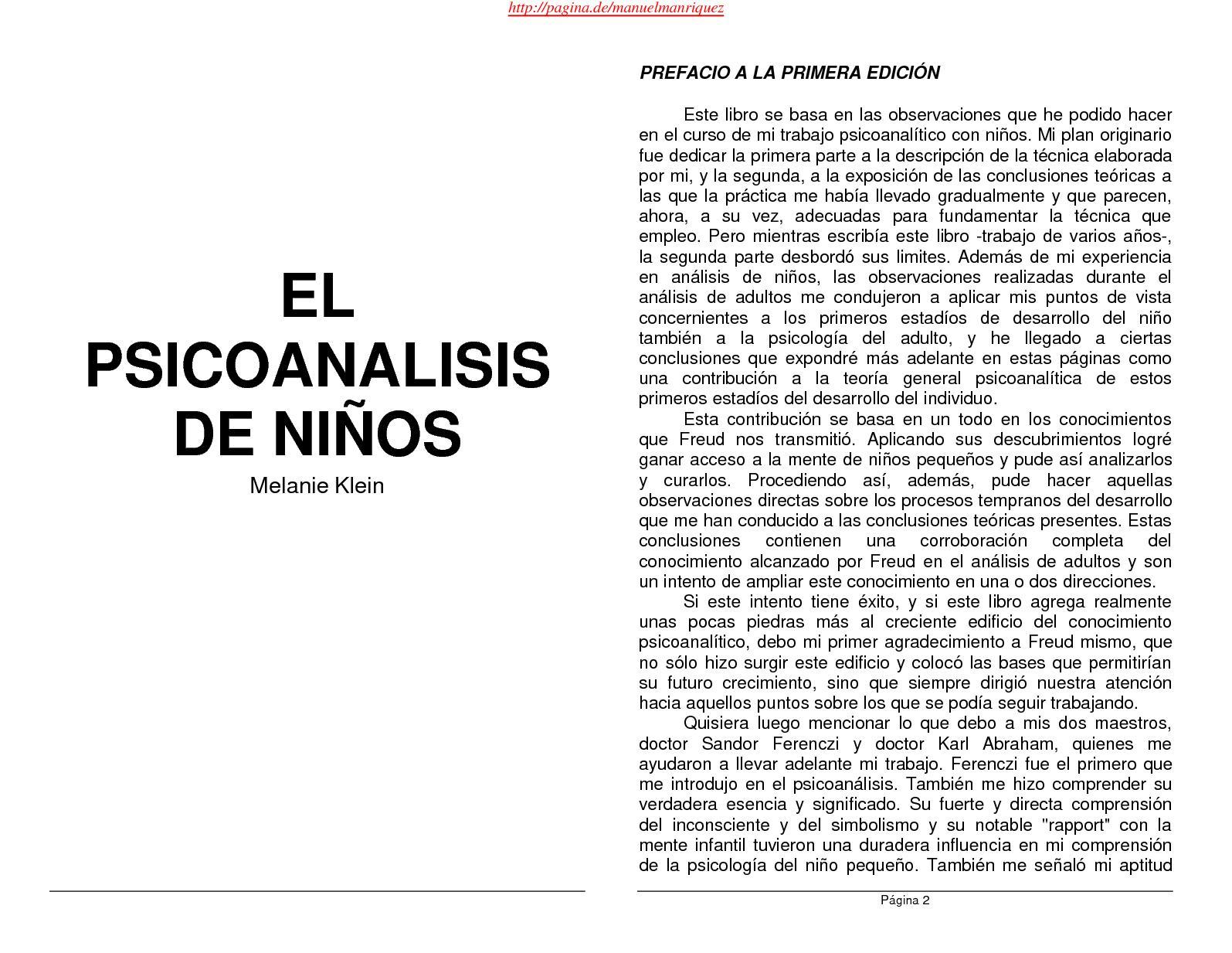 Calaméo - Psicoanalisis De Los Niños