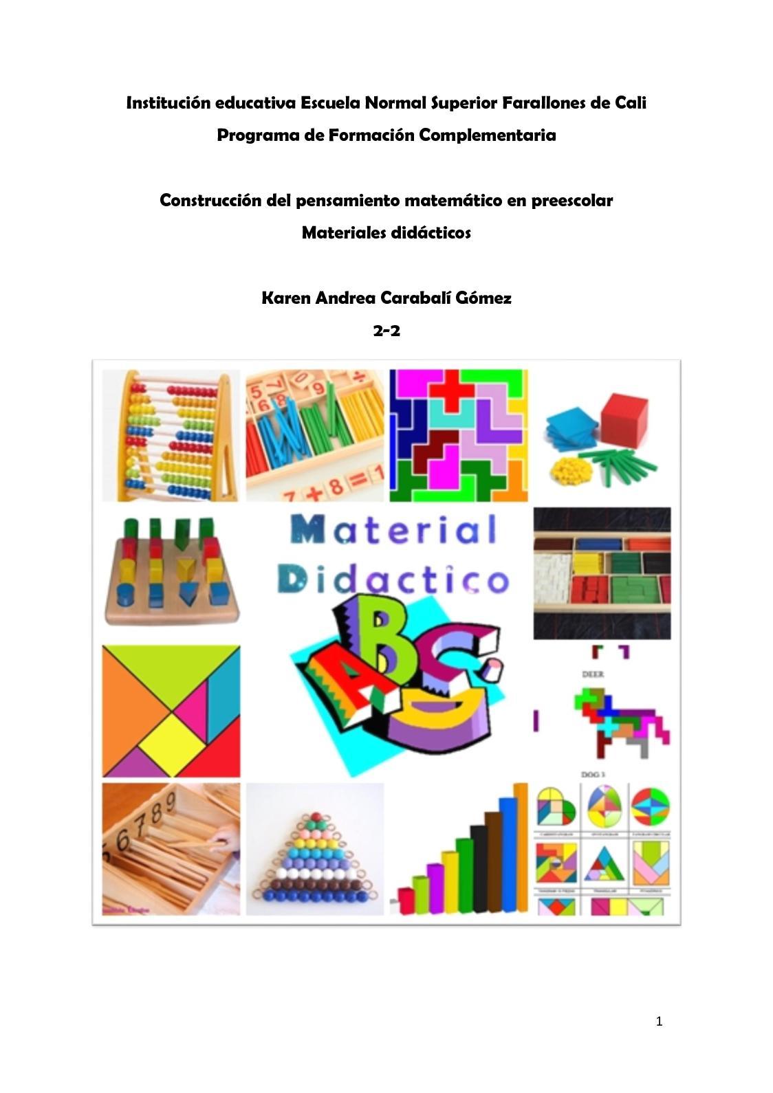 Calam o materiales didacticos karen - Material de construccion segunda mano ...