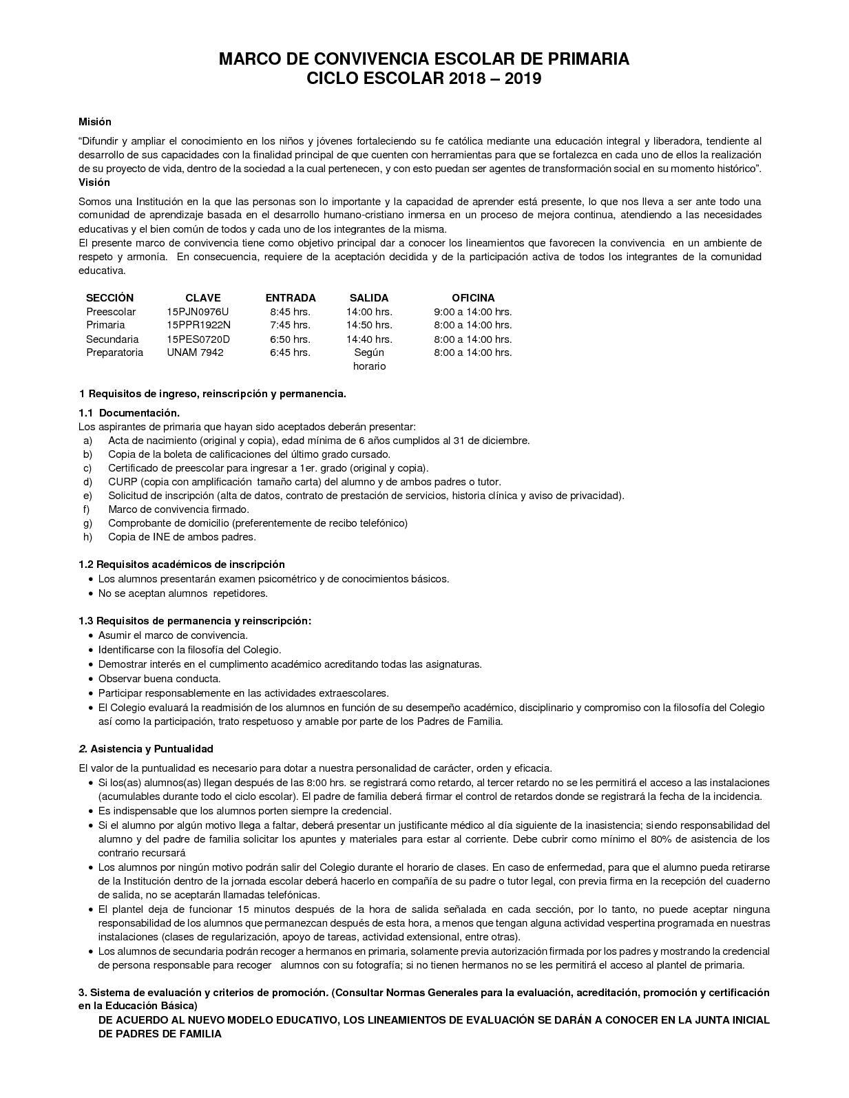 Calaméo - Marco De Convivencia Primaria 2018 2019