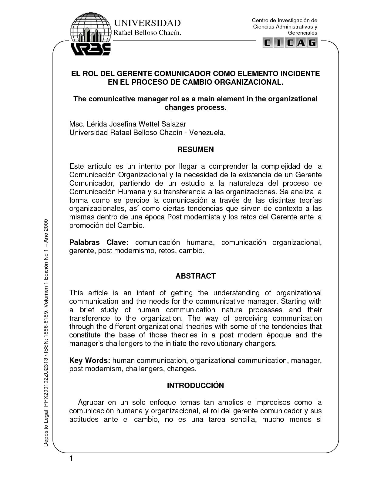 Calaméo - EL ROL DEL GERENTE COMUNICADOR COMO ELEMENTO INCIDENTE EN ...