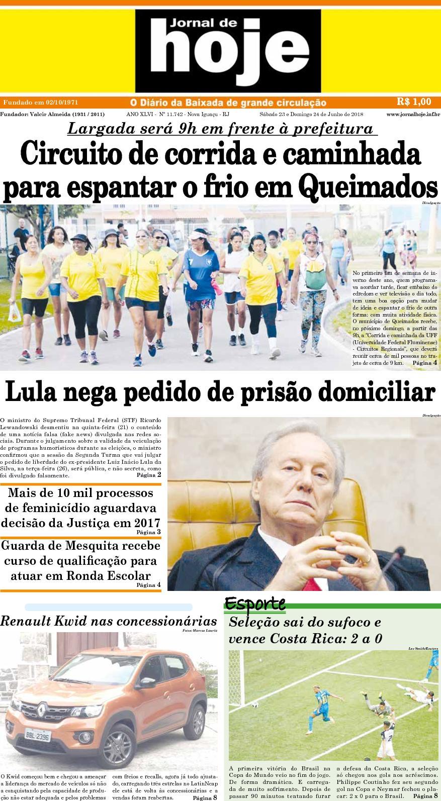 Jornal De Hoje 230618