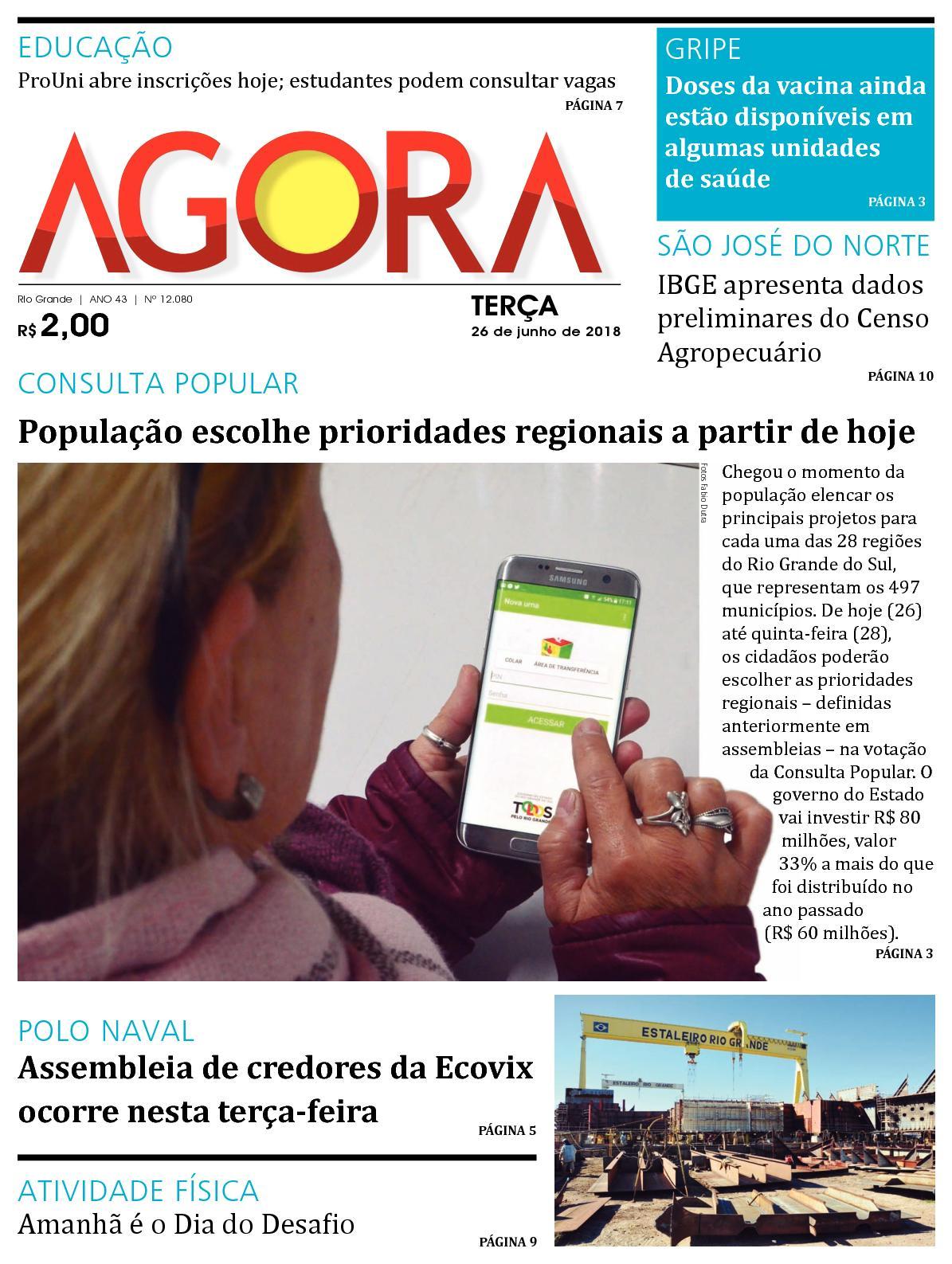 Jornal Agora - Edição 12080 - 26 de Junho de 2018