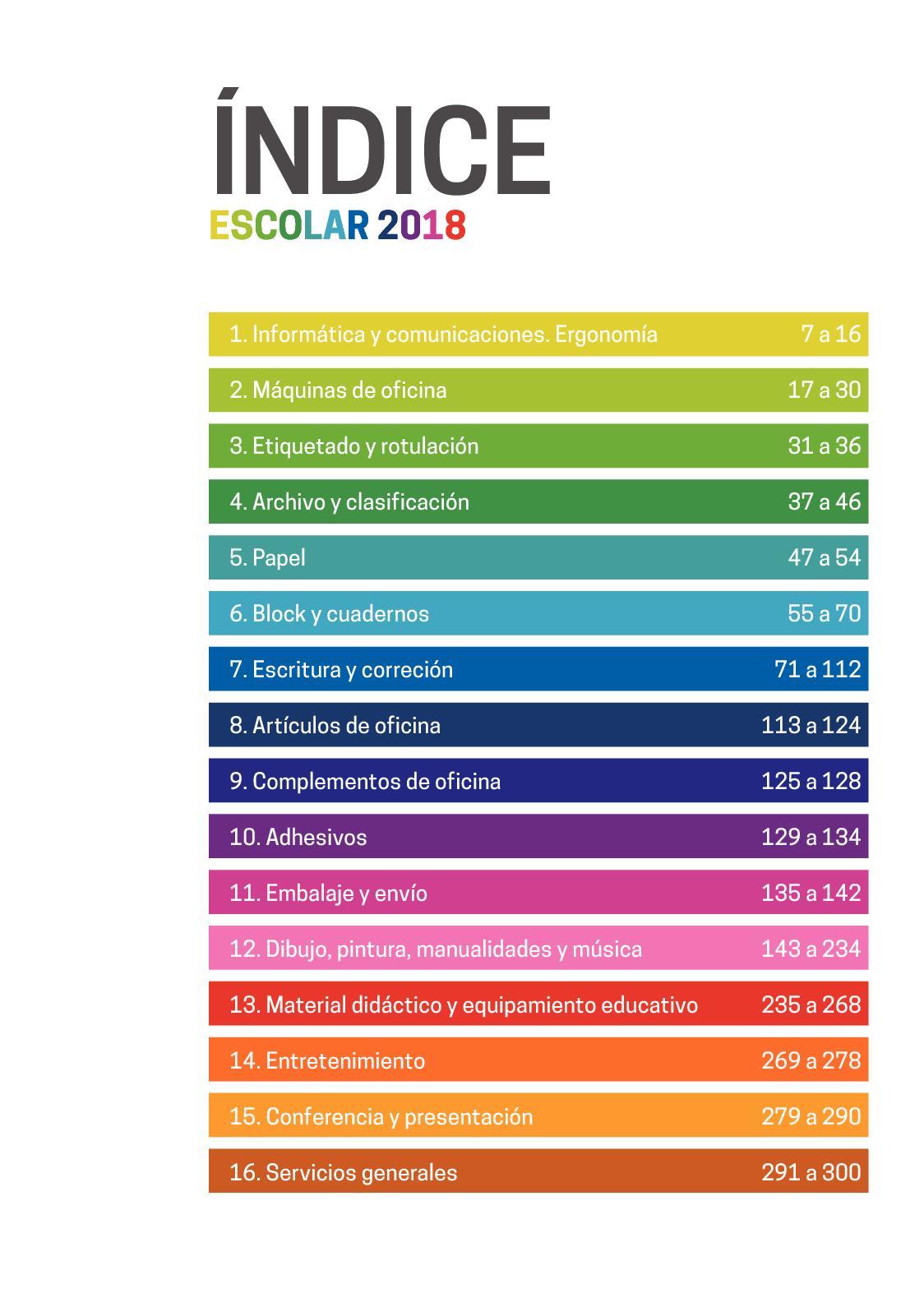 Calaméo - Catálogo Escolar 2018