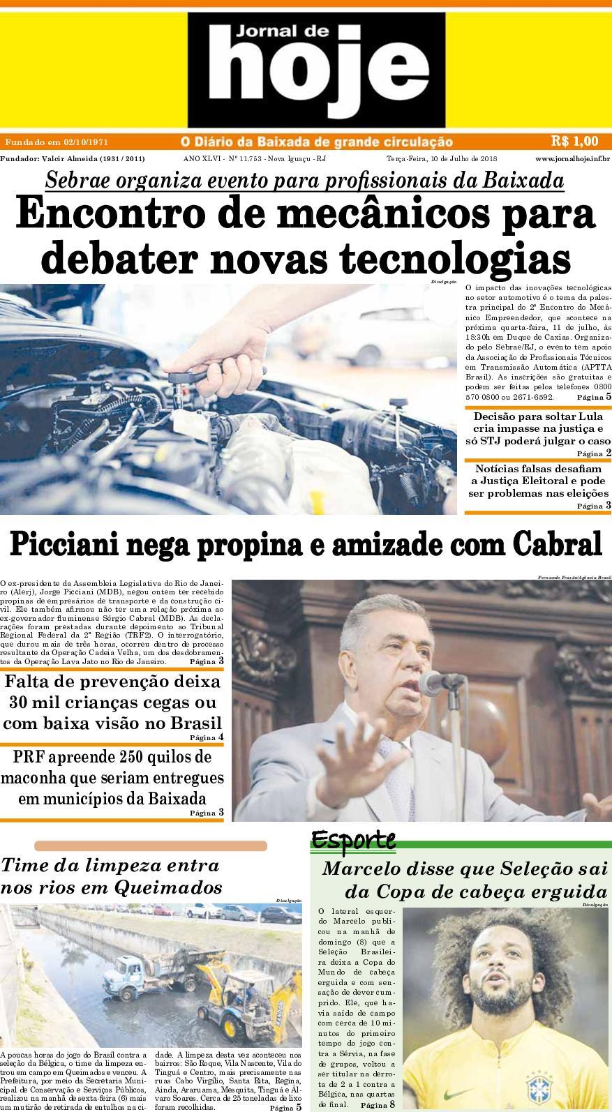 Jornal De Hoje 100718