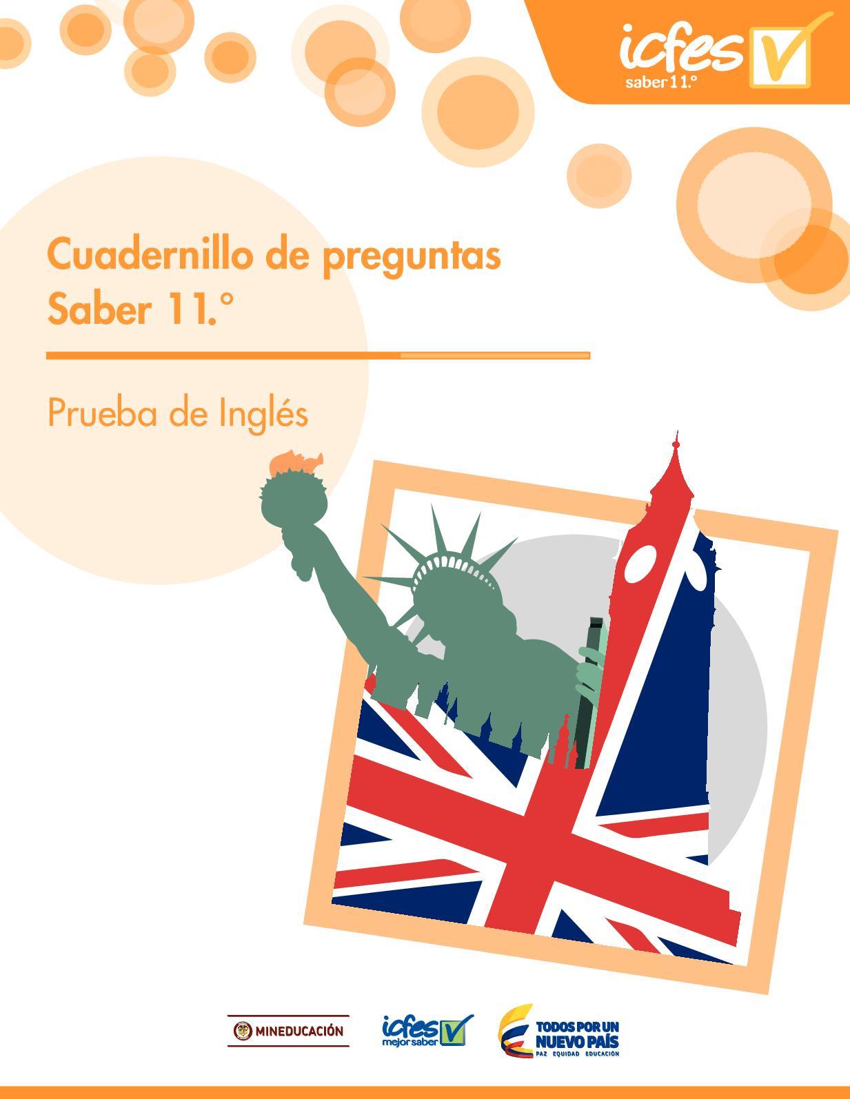 Cuadernillo De Preguntas Saber 11 Inglés