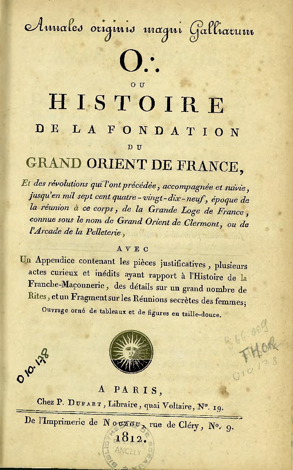 Histoire Grand Calaméo La Fondation France Du Thory Orient De qYYSvw