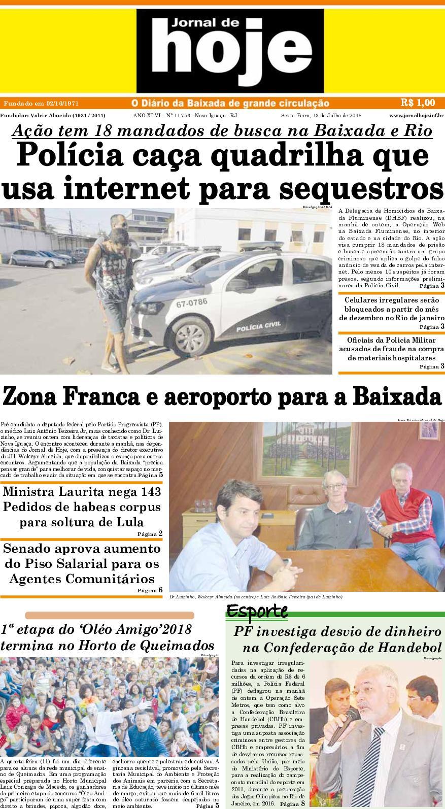 Jornal De Hoje 130718