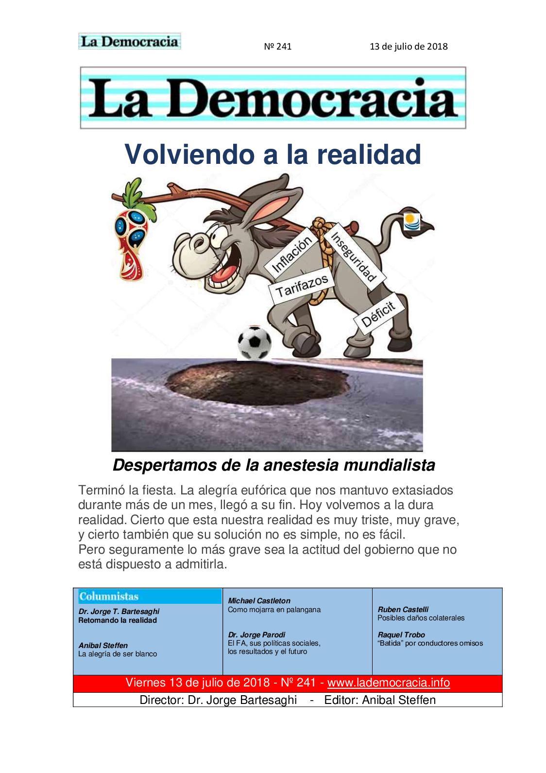 La Democracia - Nº 241 -/13/7/18