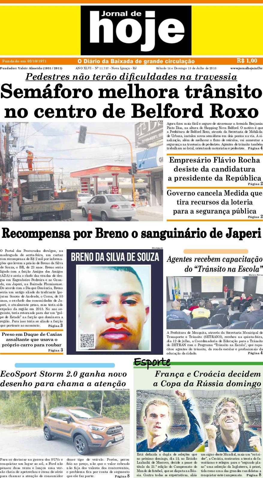 Jornal De Hoje 140718
