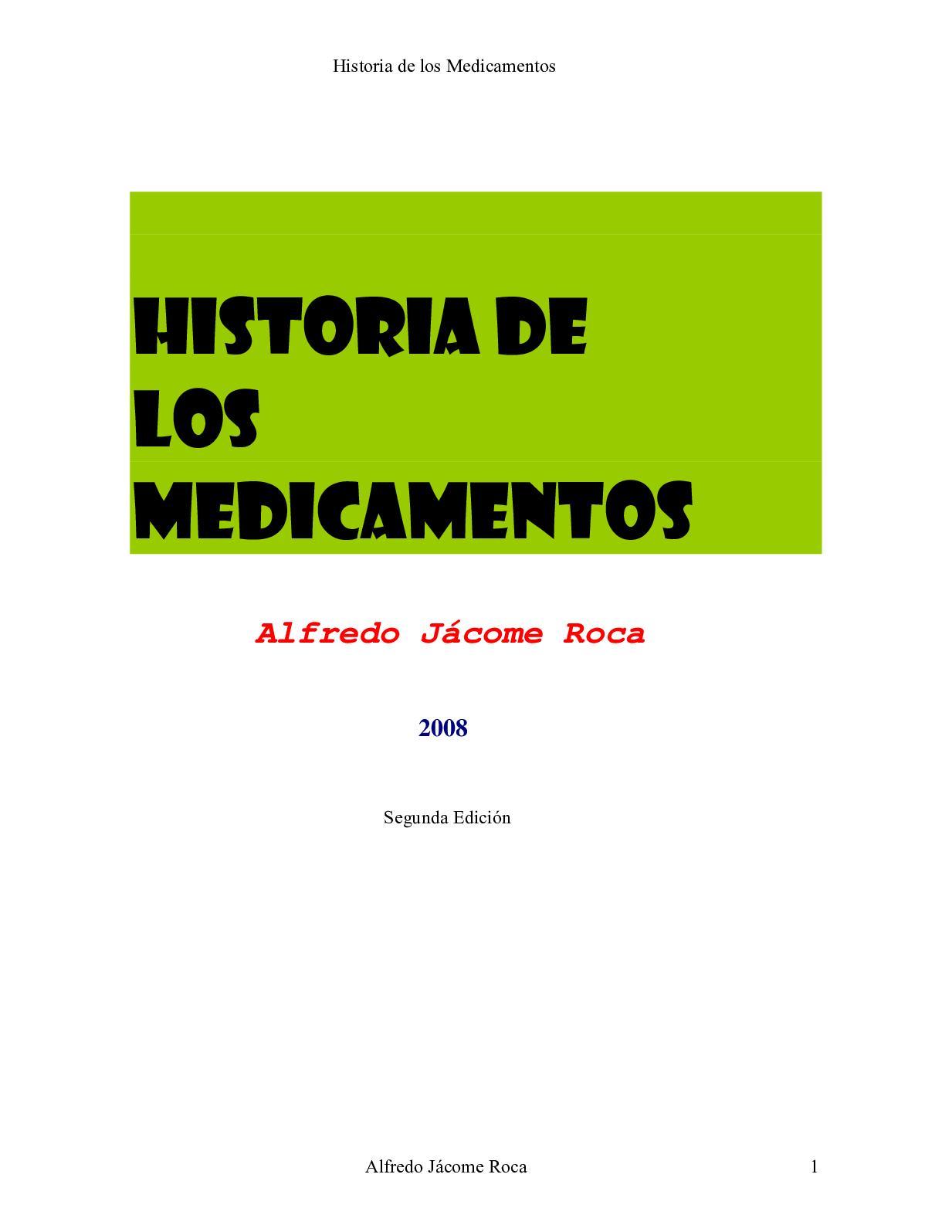 Calaméo - Historia De Los Medicamentos Revista Alfredo Jacome Roca