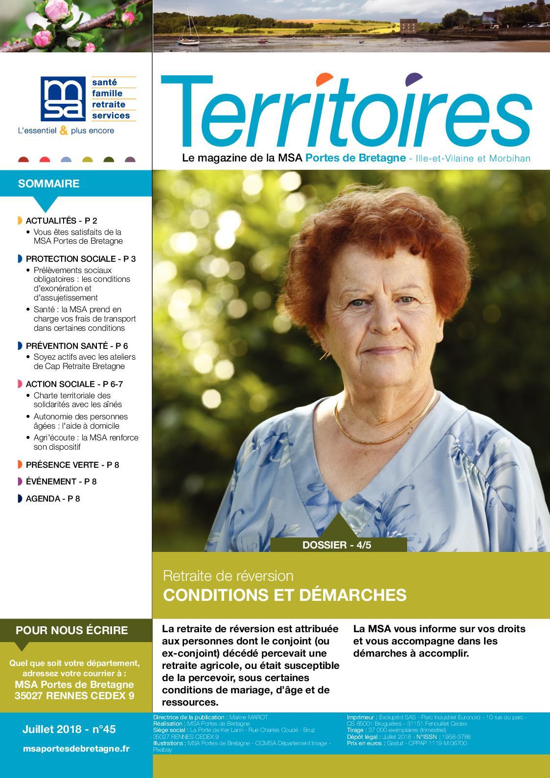 Calameo Territoires N 45 Juillet 2018