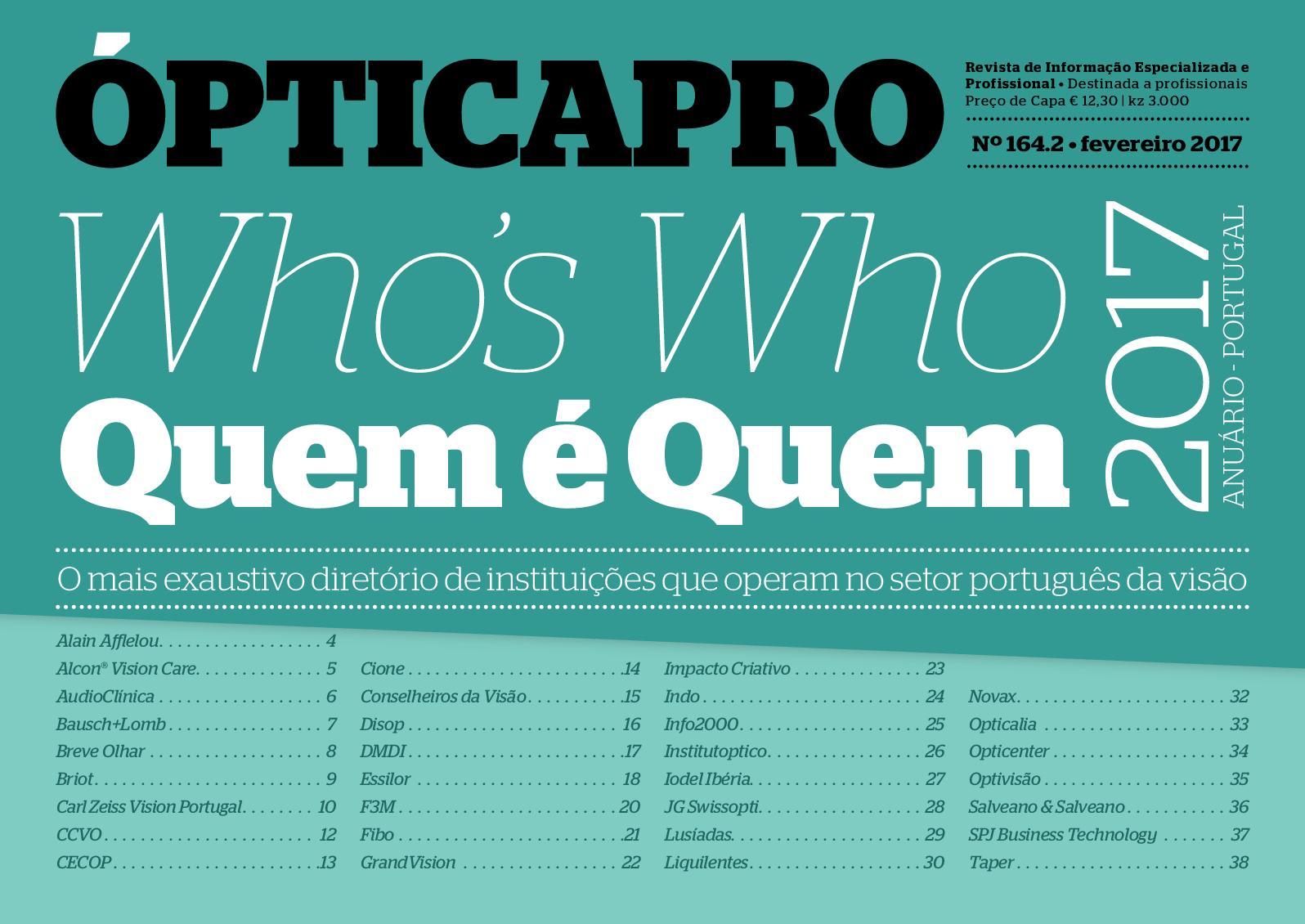 Calaméo - OpticaPro 164 - Especial Quem É Quem 2017 1f86c69079