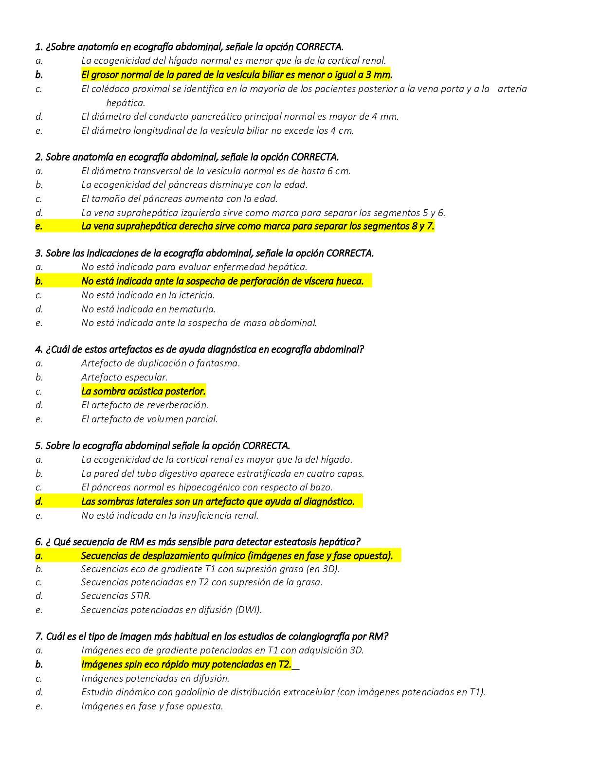 Calaméo - Banco De Preguntas De Abdomen