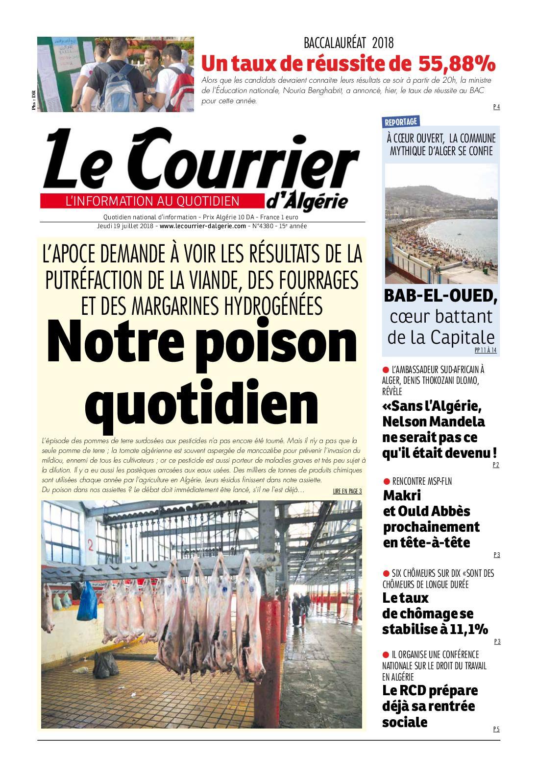 be02957f305d4 Calaméo - Le Courrier D Algérie Du Jeudi 19 Juillet 2018