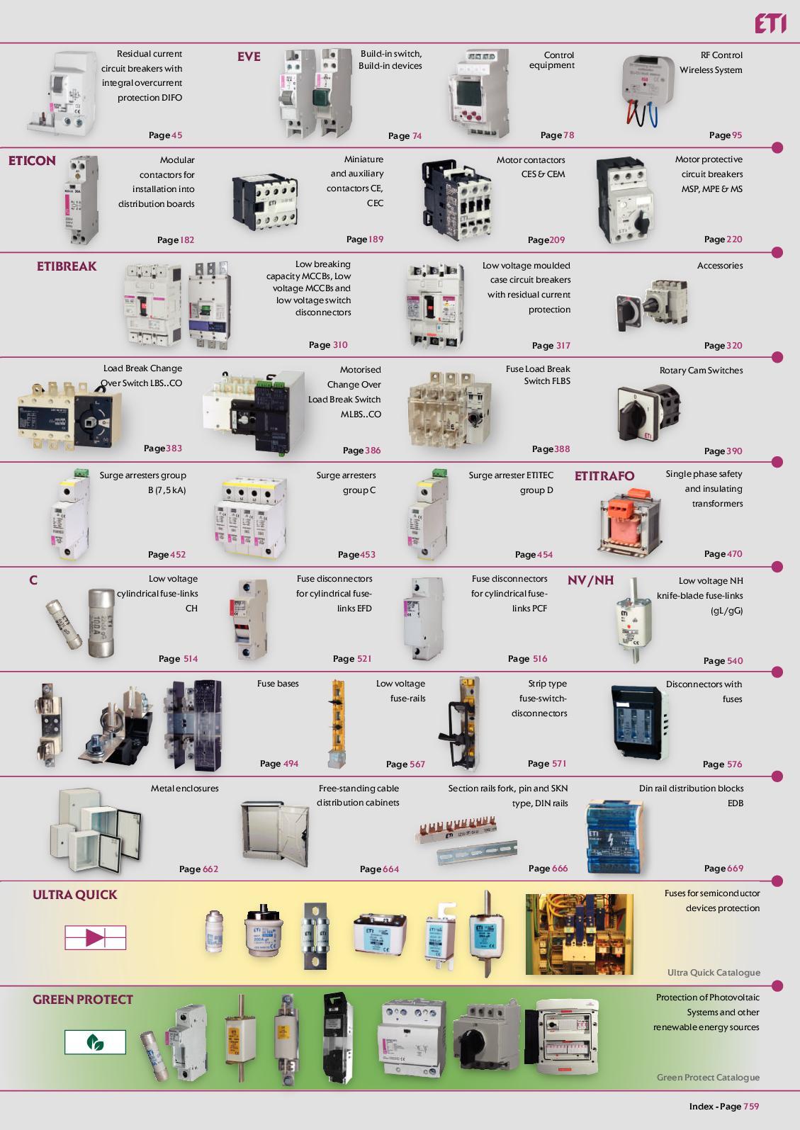 Calamo Catlogo Geral Eti S 10 220 440 Wiring Schematics