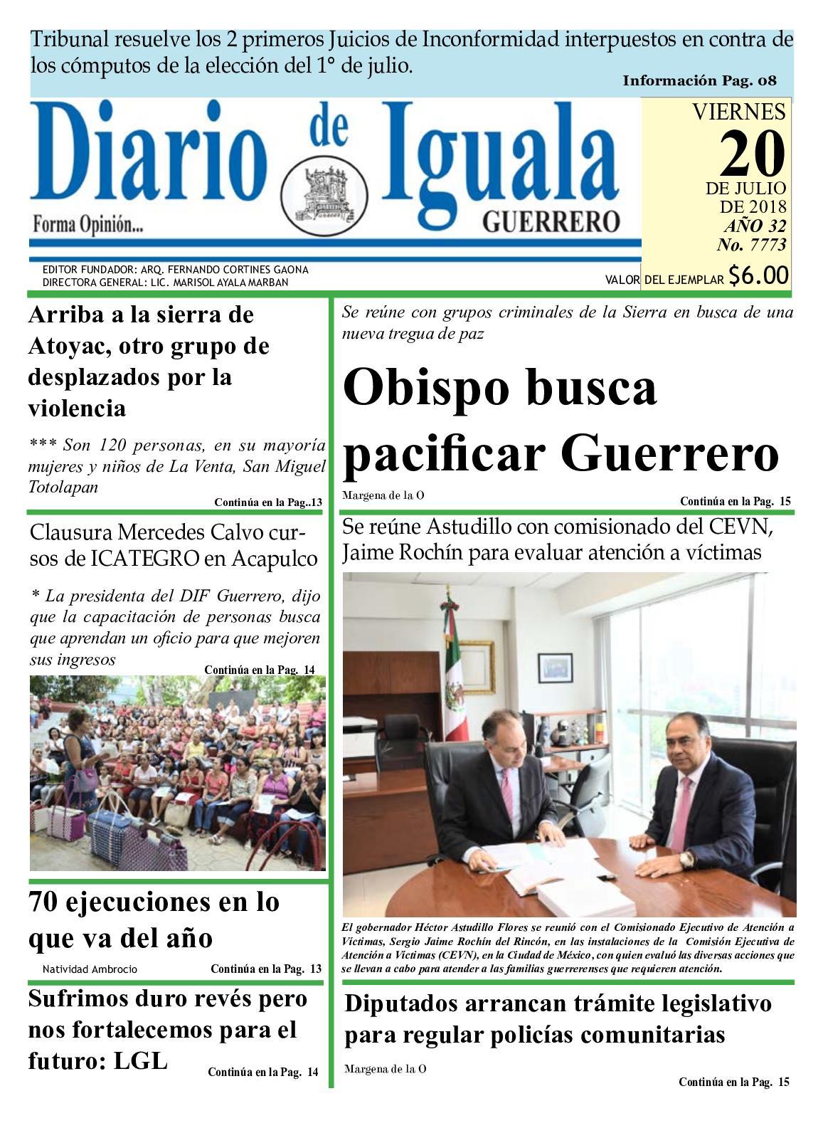 Calaméo - Viernes 20 De Julio De 2018 Diario De Iguala