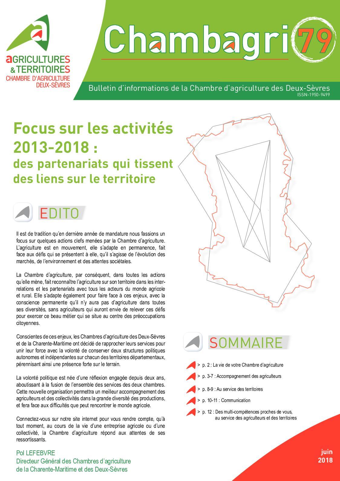 Calaméo Chambagri Focus Activites - Chambre d agriculture des deux sevres
