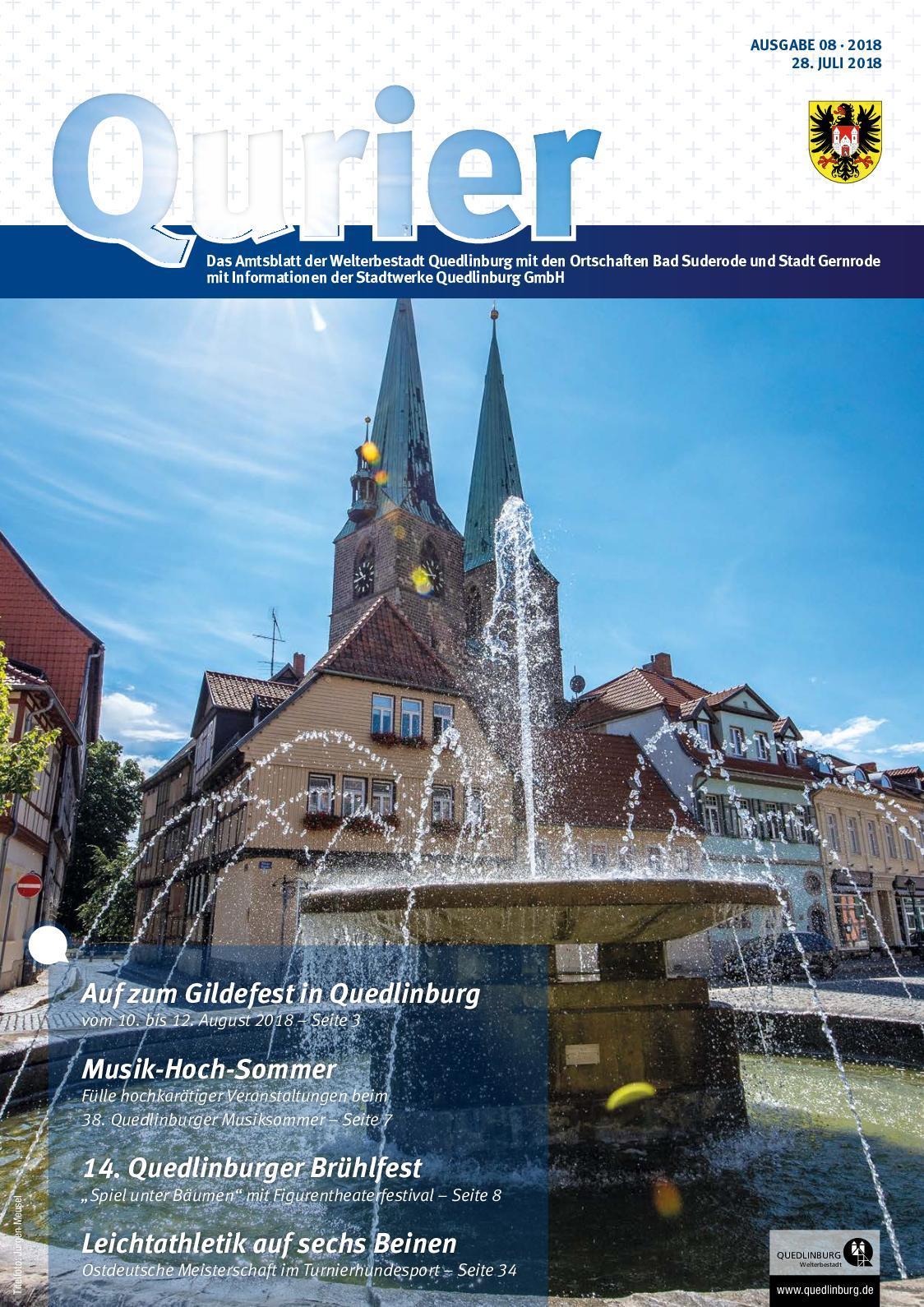 Calaméo - Qurier 08/2018 vom 28.07.2018 - Das Amtsblatt der ...