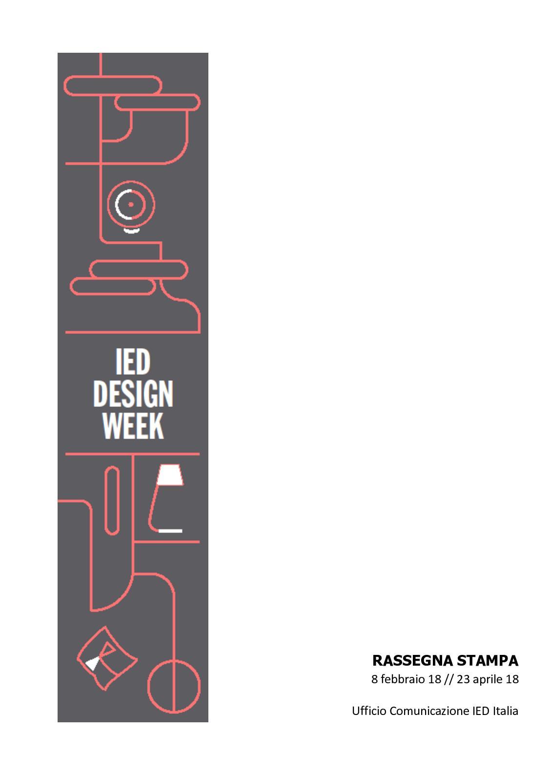 Calaméo Rassegna Stampa Ied Design Week