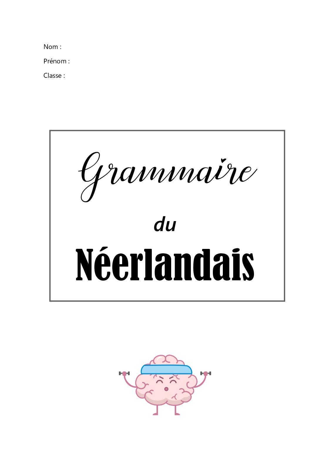 Grammaire Du Néerlandais VP