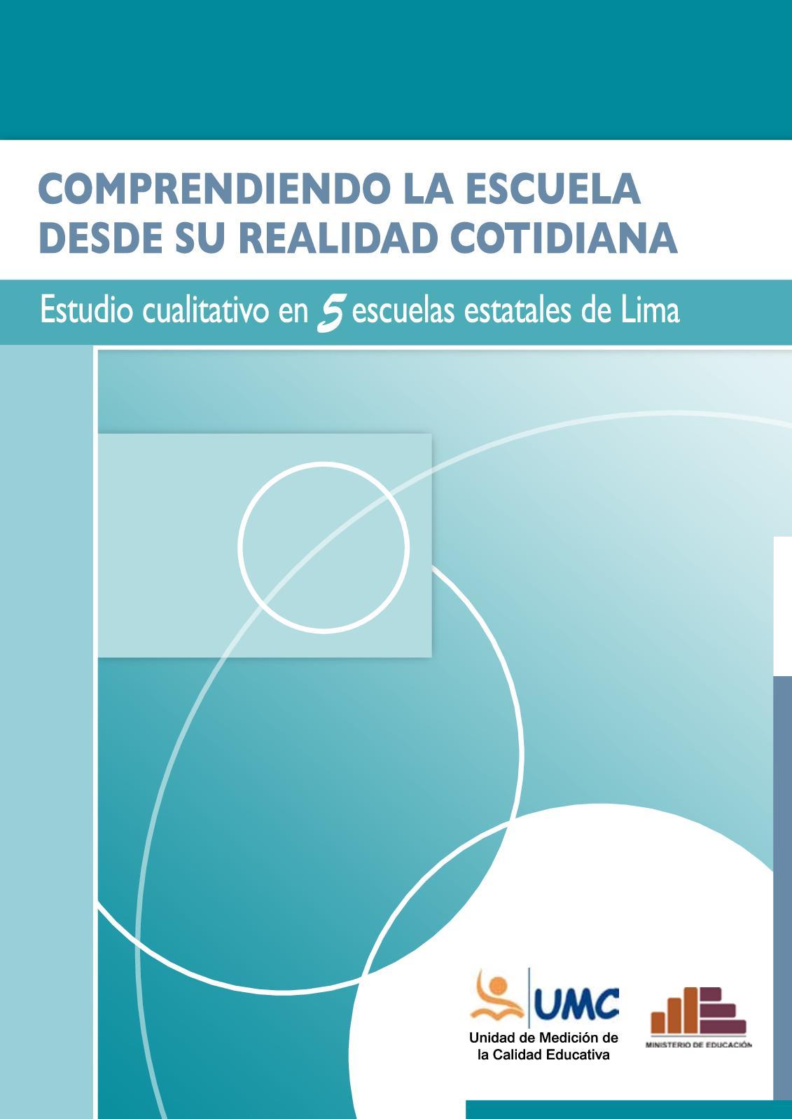 Calaméo - Libro MINEDU 2006 Estudio Cualtitativo Clima Del Aula UMC