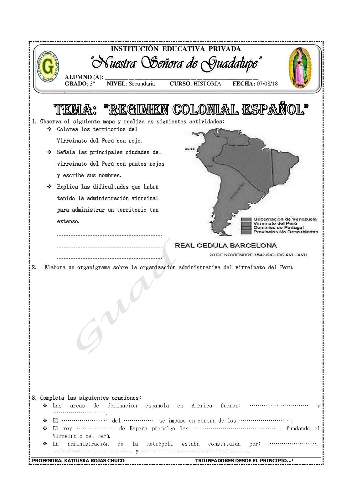 Regimen Colonial Español