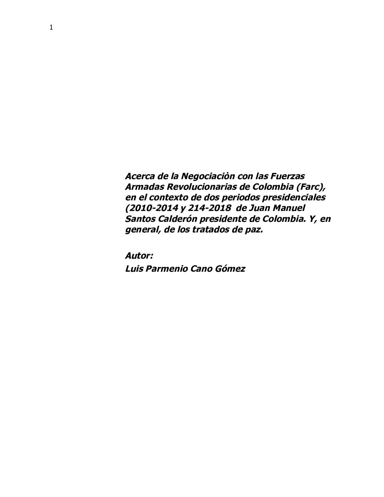 Calaméo - Acerca De La Negociaciòn Con Las Farc