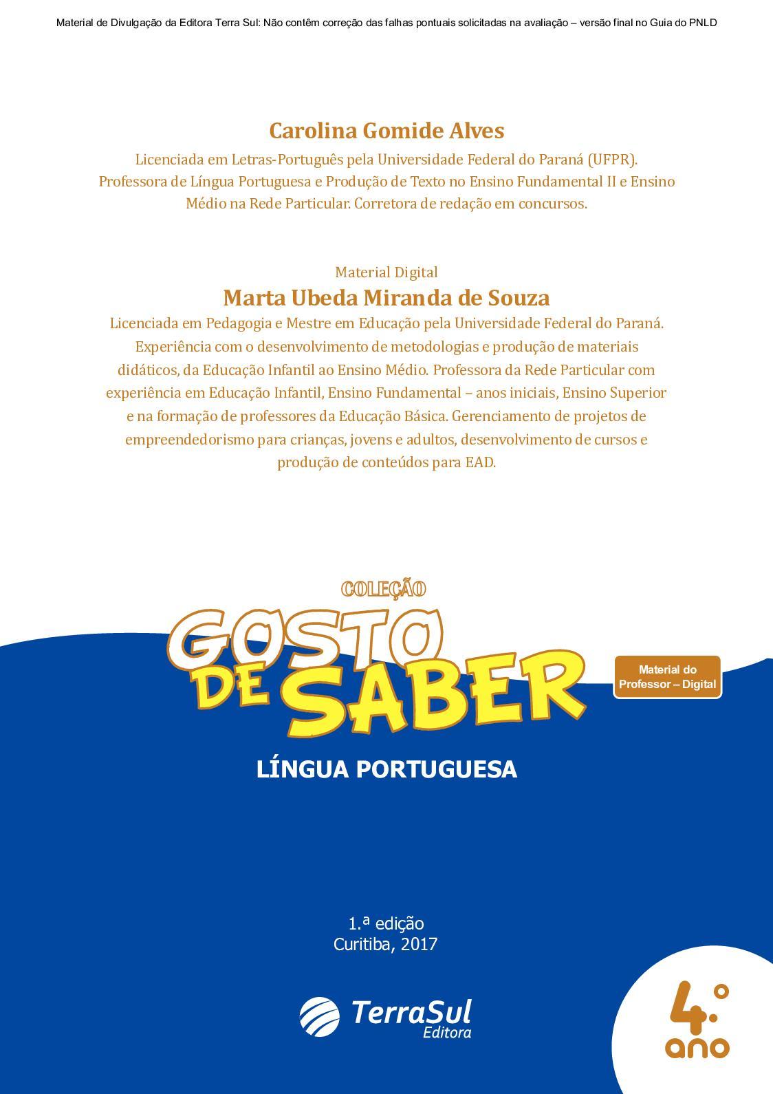 e6fff80080 Calaméo - Material Digital  Gosto de Saber - Língua Portuguesa 4º ano
