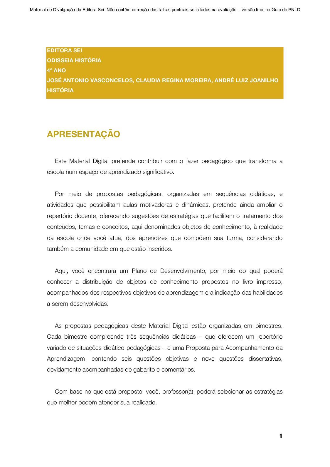 Calaméo - Material Digital  Odisseia - História 4º ano 56710fa424f0b