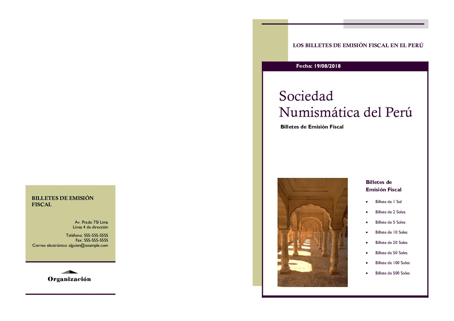 Sociedad Numismática Del Perú