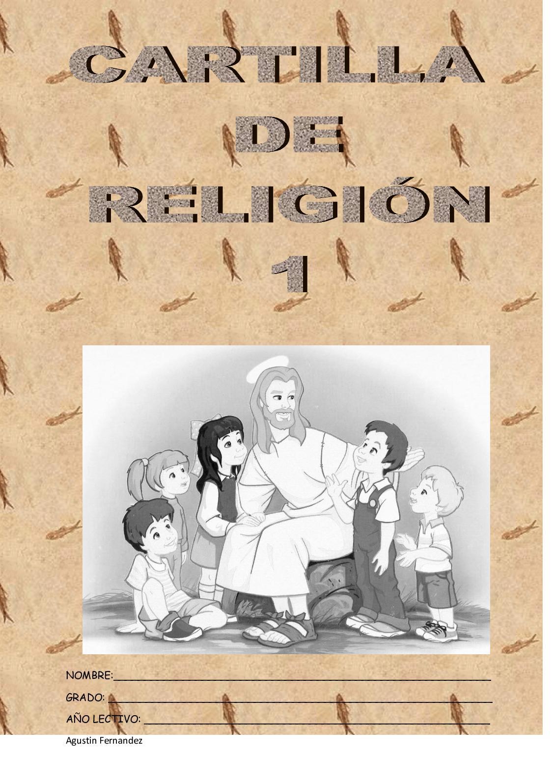 Fa Cartilla De Religion Para Grado Primero