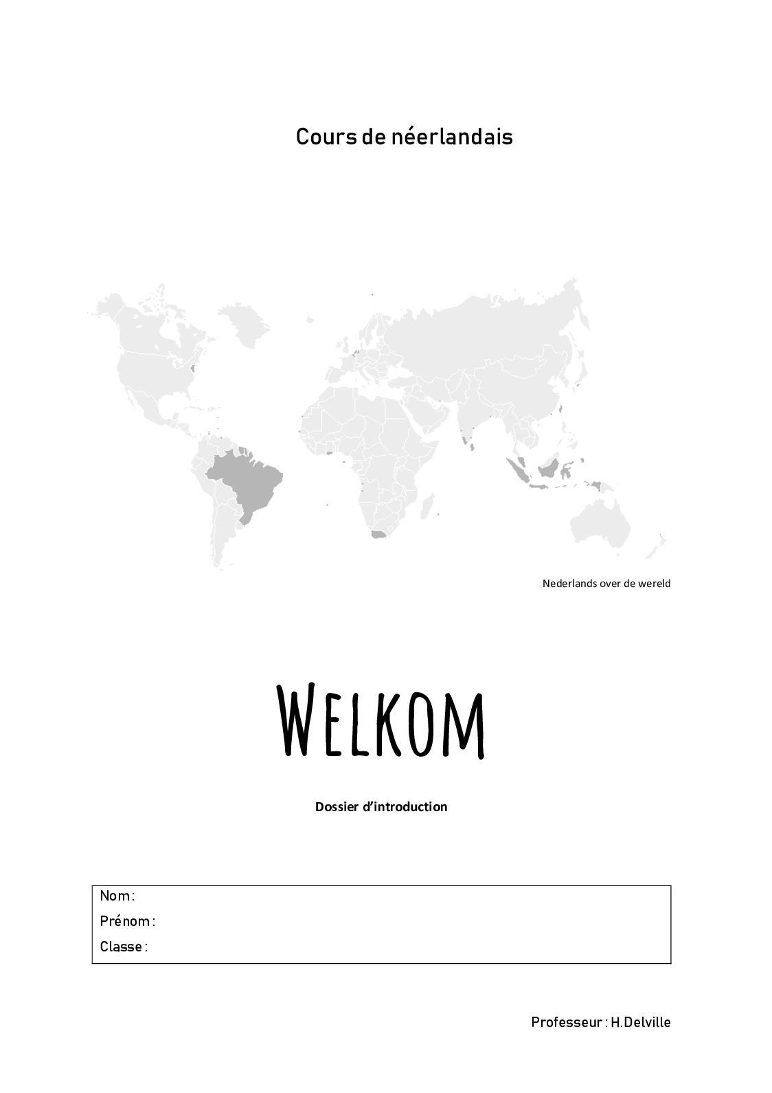 Néerlandais Dossier D'introduction