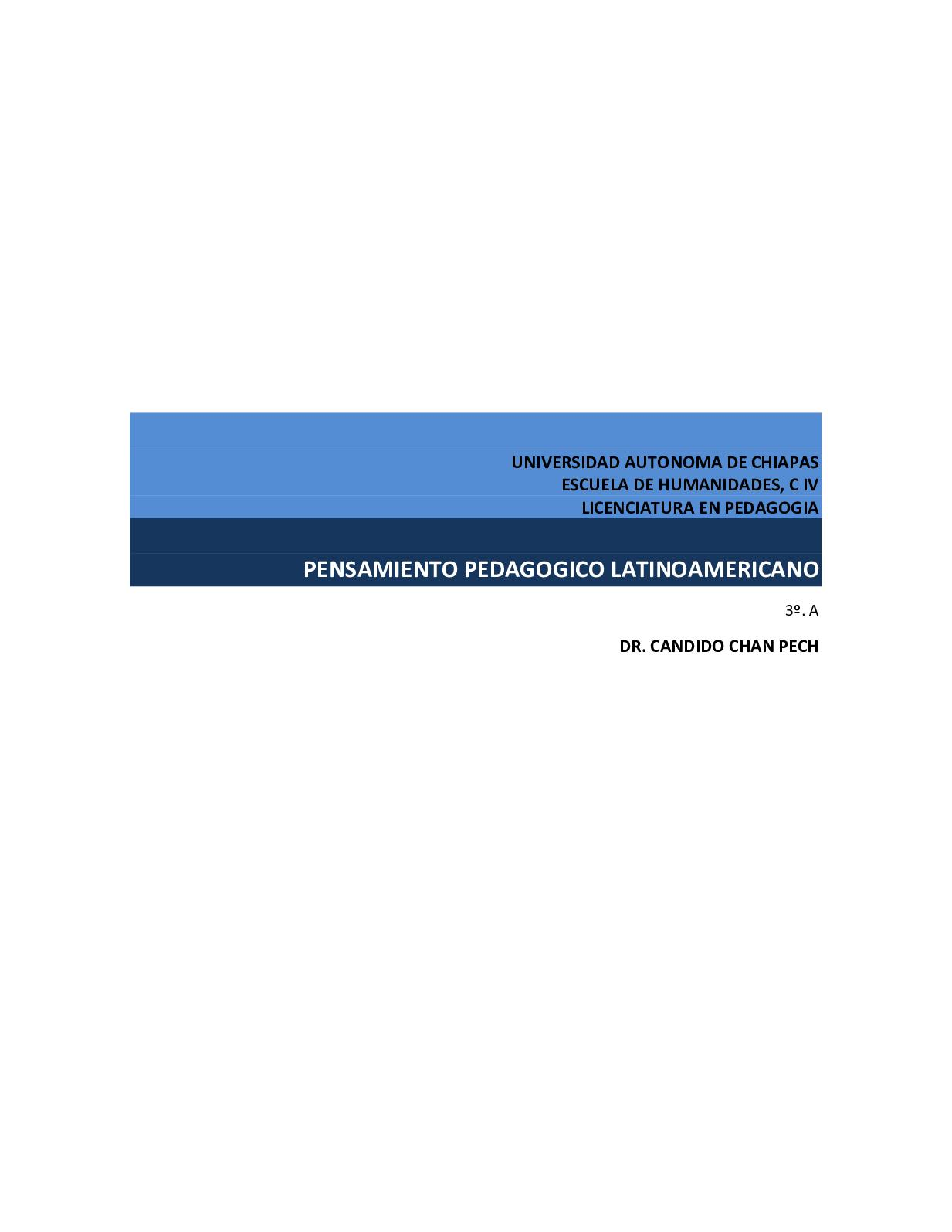 Calaméo - Pensamiento pedagogico latinoamericano