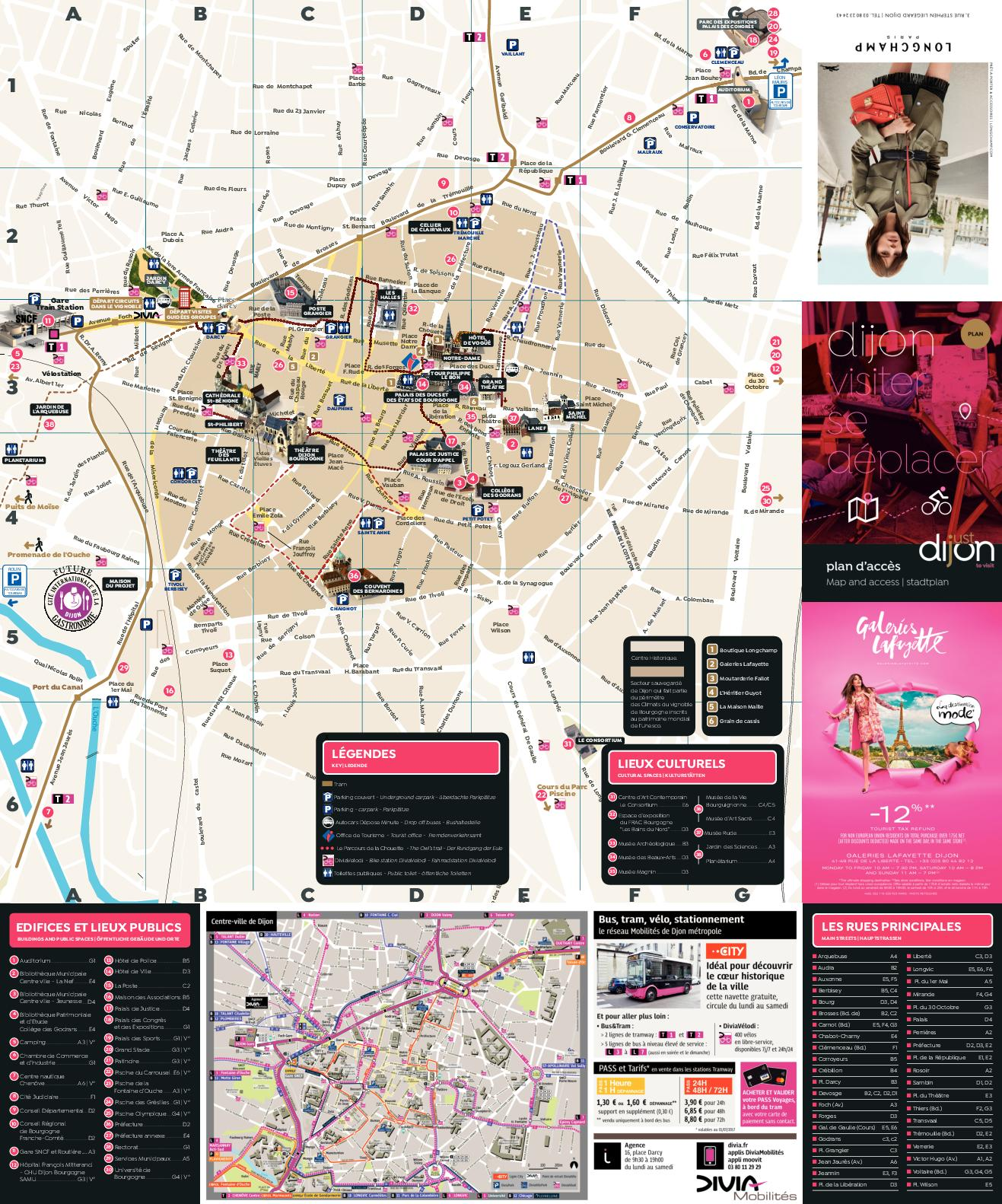 Plan d'accès Dijon 2018